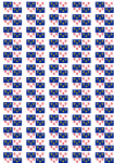Picardy Flag Stickers - 65 per sheet